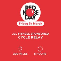 JLL's Sponsored Cycle Relay #RedNoseDay17