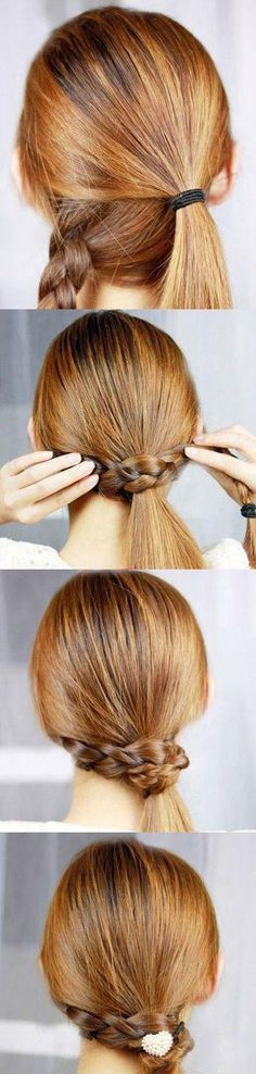 Braid-wrapped side pony