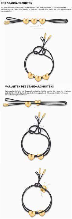 pandora lederband knoten anleitung