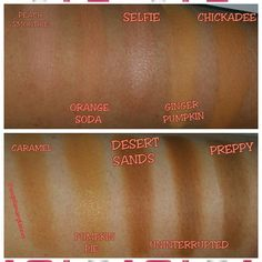Peach and camel eyeshadow swatches from makeup geek, mac, sigma beauty, coastal scents, colourpop and anastasia Beverly Hills