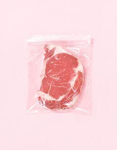 Beef pink raw @jacintachiang
