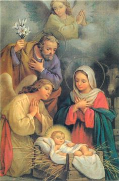 ART postcard religion topic Holy Family Nativity angels anges Engels - $3.50. A765 332471636607