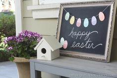 Easeter Egg Garland - Use Paint chips for eggs
