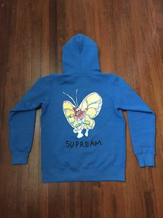 Supreme Blue Gonz Butterfly Hoodie Size M $177 - Grailed