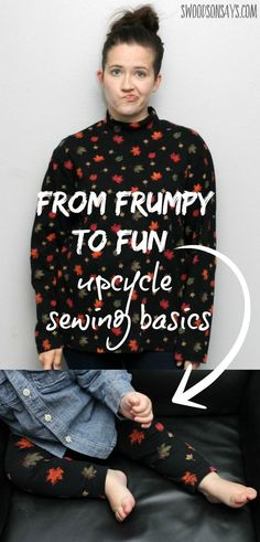 From frumpy old clothes to fun baby outfits - upcycling can be easy! I'm sharing a few basic tips and resources if you are new to upcycling adult clothes into kids clothes. Swoodsonsays.com