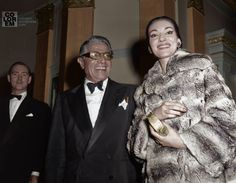 Maria Callas with Aristotle Onassis 1959 Maria Callas, Elsa Maxwell, Edie Bouvier Beale, Catherine Baba, Amanda Lepore, Aristotle Onassis, Betty Ford, Celebrities Then And Now, Judi Dench