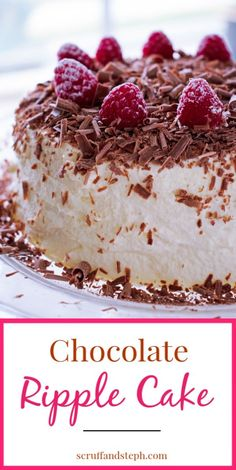 If you ever wanted the easiest cake recipe that requires no baking and tastes delicious, then look no further than this chocolate ripple cake. Easy Cake Recipes, Baking Recipes, Dessert Recipes, Xmas Desserts, Fancy Desserts, Christmas Appetizers, Christmas Recipes, Yummy Recipes, Christmas Ideas