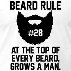 Beard Rules T-Shirts - Men's T-Shirt by American Apparel
