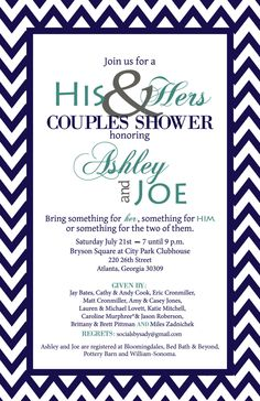 chevron his and her wedding shower by on etsy httpswww