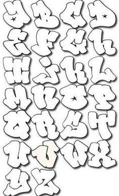 Graffiti Alphabet Bubble letter A-Z by Guardian.    Graffiti Tutorial