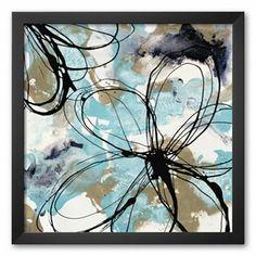 Art.com Free Flow II Framed Art Print by Natasha Barnes
