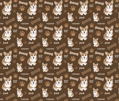 Corgi Brown - dianef - Spoonflower - see if i can get in green