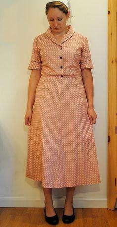 Feedsack Print 1930's Style Dress | THE OPULENT POPPY