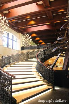 The iconic spiral staircase at Spiral, Sofitel Manila