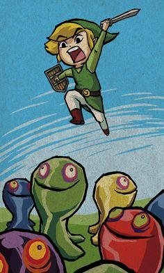 The Legend of Zelda: Toon Link in Action