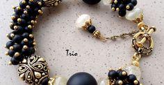 We on Facebook: http://ift.tt/2jRHDjd Beautiful Beaded Jewelry #underbeads by @underbeads Check our #AmazingPhoto : Купить Комплект Black and gold - черный браслет и серьги браслет с шунгитом серьги с шунгитом