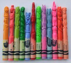 Diem Chau Carved Crayola Crayon