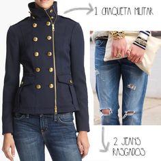 chaqueta militar mujer - Buscar con Google