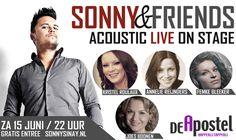 Op 15 Juni presenteren wij Sonny & Friends in Happerij & Tapperij de Apostel in Weert. Entree gratis, we starten om 22.00 uur.