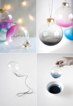 easy ombre glass ornament tutorial - from ambrosia creative #DIY