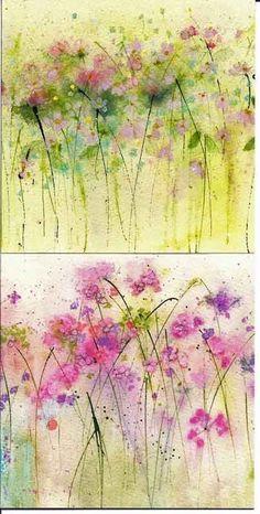 Watercolor Cards, Watercolor Flowers, Art Paintings, Watercolor Paintings, Watercolors, Watercolor Techniques, Art Techniques, Flower Art, Flower Images