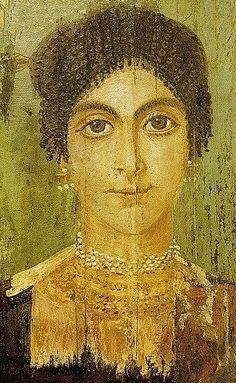 Egyptian Roman Period, 175 - 225 AD mummy portrait found in the oasis of Fayum Plus Rome Antique, Art Antique, Egyptian Mummies, Egyptian Art, Roman History, Art History, Ancient Rome, Ancient History, Art Romain
