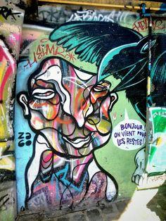 za60 - Street art - point éphémère, quai de valmy, paris 10 (mai 2014)