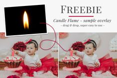 Keep your clients safe with this handy freebie photo overlay. Add candle flames in your post process and don't risk anything - it is quick & super easy - let's try it. Great for birthday photography, holiday mini sessions, family pictures & portraits. Professional Christmas photo overlays for Photoshop, Zoner, Gimp, PicMoneky, etc. Photo overlays for creative photographers from Brown Leopard.