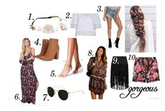 """""""Coachella 2016"""" by nicolinehammersholt on Polyvore featuring Levi's, Ray-Ban, Boohoo and ASOS"""