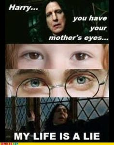 Lily's eyes do not match Harry's in the movies