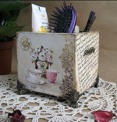 La Maison, подставка - цветы,ретро,винтаж,Декупаж,карандашница,подставка для расчёсок