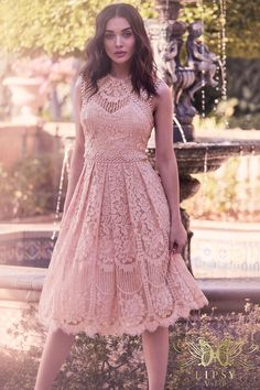 Buy Lipsy Vip Embroidered Lace Prom Dress from the Next UK online shop