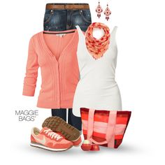 Pretty Peach, created by maggiebags on Polyvore