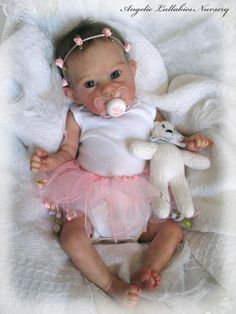 Pixie Bonnie Brown Newborn Reborn Preemie Baby Girl German Glass Eyes Adorable | eBay