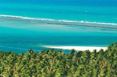 Praia do Gunga em Barra de São Miguel, Alagoas