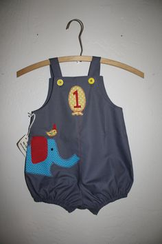 Ellie and Friend Circus Birthday Romper by PamiesCraftyAttic, $28.00