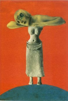 Hannah Höch, Untitled, photomontage, 1930, from an Ethnographic Museum.