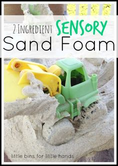 2 Ingredient Sensory Sand Foam-super fun, super simple, tons of fun! @gmptfitness Repined by @CSHC #sensoryfun #messyfun
