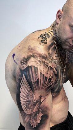 35 Upper Arm Tattoos – Pictures and Images- 35 Tatuagens mas… – Tatto Ideas Dove Tattoos, Forarm Tattoos, Bild Tattoos, Irezumi Tattoos, Forearm Tattoo Men, Body Art Tattoos, Best Sleeve Tattoos, Tattoo Sleeve Designs, Tattoo Designs Men