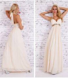 2e66c43fa7f1 Επίσημο βραδινό μάξι φόρεμα-beige Prom Dresses
