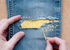 35+ Useful Clothing Hacks Every Woman Should Know --> Fix clothes with patchwork