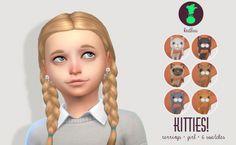 KITTY EARRINGS FOR GIRLS at Kedluu via Sims 4 Updates