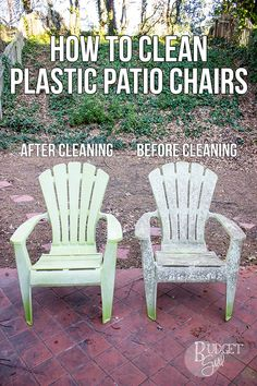 How To Clean Plastic Patio Chairs | Plastic Patio Chairs, Patios And  Painting Plastic