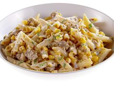 Penne with Corn and Spicy Sausage recipe from Giada De Laurentiis via Food Network