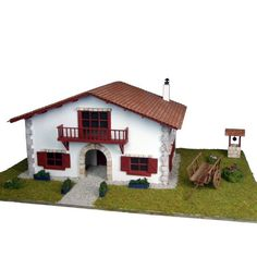 Chalet en Kit: Caserío con carro // Cottage Kit: Cottage House with cart. Cottage Kits, Cottage Homes, Ideas Para, My Dream, Shed, Outdoor Structures, Cabin, Mansions, House Styles