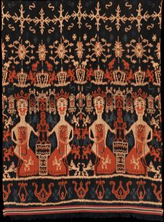 Pusaka Collection of Indonesian Ikat * Textile Sumba, East Sumba, Indonesia, Warp ikat Kebaya Dress, Ikat, Bohemian Rug, Weaving, Museum, Textiles, Tapestry, Traditional, Bird