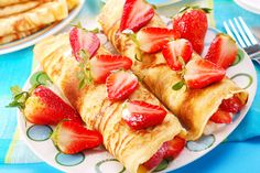 CHOCOLATE FLAVORED STRAWBERRY CREAM CHEESE BLINTZES: This recipe is quite versatile, and any berry, or a mixture of berries can be used.