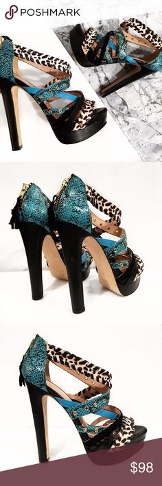 Aldo pony hair platform heels Super chic! Only worn once and like new! No box. No trades. Open to offers Shoes Heels