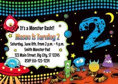 Monster Birthday Invitation MellysHandmades on Etsy