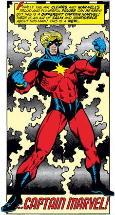 Captain Mar-Vell (Marvel Comics) bathed in energy Comic Book Artists, Comic Book Characters, Marvel Characters, Comic Character, Comic Books Art, Comic Art, Marvel Comics Superheroes, Ms Marvel, Marvel Heroes
